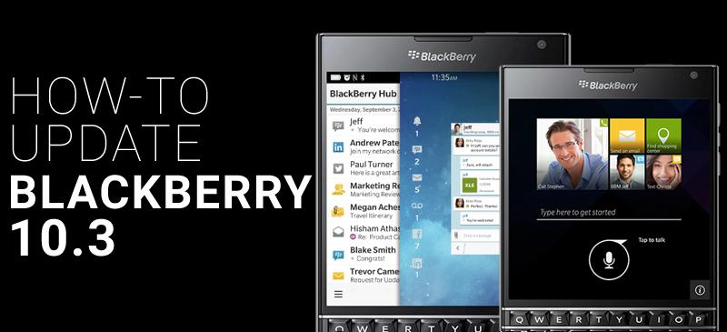 BlackBerry 10.3 Update Banner